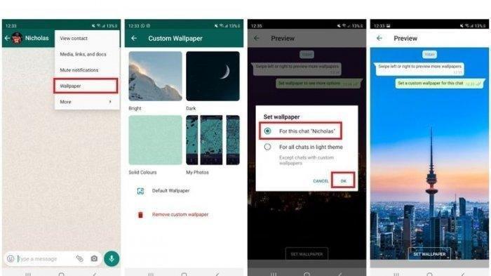 Cara Mengganti Wallpaper di Ruang Obrolan Aplikasi WhatsApp