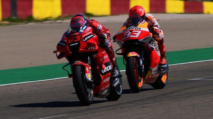 Klasemen MotoGP 2021 Setelah Francesco Bagnaia Juara MotoGP Aragon 2021, Quartararo 1, Marquez 10