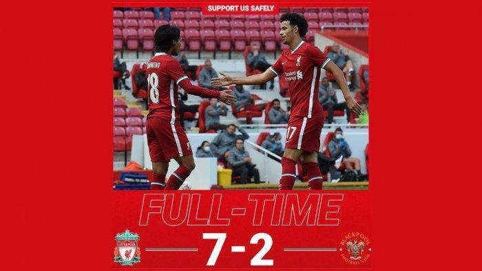 Hasil Laga Uji Coba Liverpool vs Blakcpool - Kebobolan 2 Gol, Liverpool Ngamuk, Balas 7 Gol