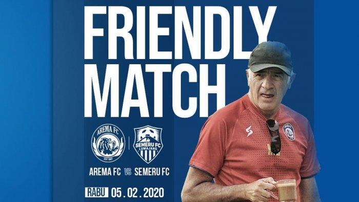 Hasil Ujicoba Arema FC vs Semeru FC, Arema Gagal Menang, Mario Gomez Tak Khawatir, Ini Sebabnya