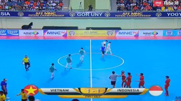 Hasil Babak Pertama Timnas Futsal Indonesia vs Vietnam di Perebutan Juara 3 Piala AFF Futsal 2018