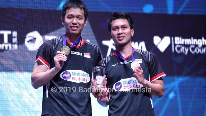Ganda Putra Indonesia Mohammad Ahsan/Hendra Setiawan Juara All England 2019
