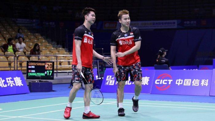 Hasil Piala Sudirman 2019 - Marcus/Kevin Menang, Indonesia Unggul 1-0 atas Inggris