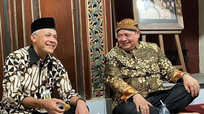 Airlangga Hartarto Bertemu Ganjar Pranowo, Kompak Komentari Prediksi di 2024