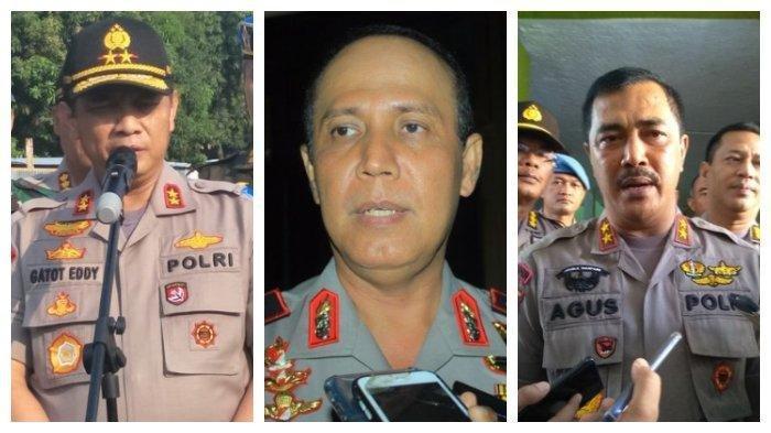 Dari kiri ke kanan: Gatot Eddy Pramono, Boy Rafli Amar, dan Agus Andrianto. Berikut daftar harta kekayaan tiga jenderal yang disebut-sebut sebagai sosok kuat pengganti Idham Azis dalam bursa calon Kapolri. Siapa yang paling kaya?