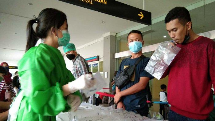PELABUHAN DOMESTIK SEKUPANG - Bilik pemeriksaan GeNose C19 di Pelabuhan Domestik Sekupang, Batam, Provinsi Kepri.