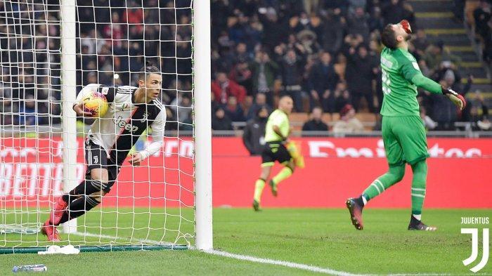 Hasil Semifinal Coppa Italia AC Milan vs Juventus, Cristiano Ronaldo Selamatkan Juve Skor Akhir Seri