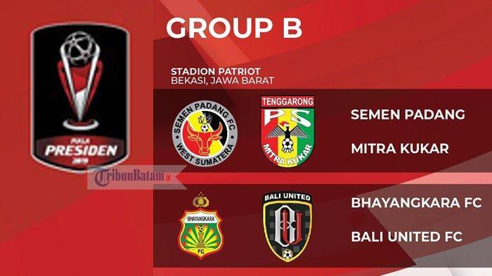 PIALA PRESIDEN 2019 - Jadwal Hari Ini Kamis (14/3) Bali United vs BhayangkaraFC, Siapa Juara Grup B?