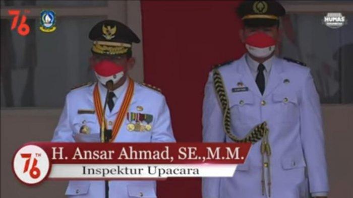 Gubernur Kepri Inspektur Upacara HUT RI, Serukan Lawan Hoaks Selain Pandemi Covid-19