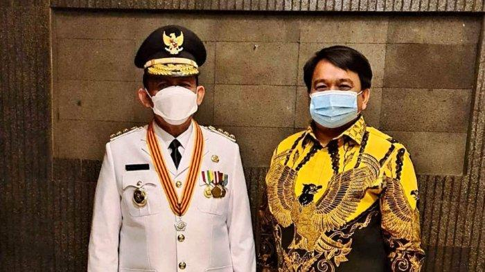 Gubernur Kepri terpilih Ansar Ahamd bersama politisi Partai Golkar, Ade Angga di Jakarta, Kamis (25/2/2021).