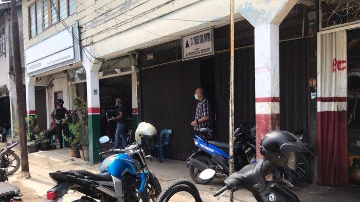 Gudang yang berlokasi di jalan Martadinata nomor 34 Tanjunguban, Kecamatan Bintan Timur, Kabupaten Bintan, Provinsi Kepri yang digeledah KPK, Rabu (3/3/2021).