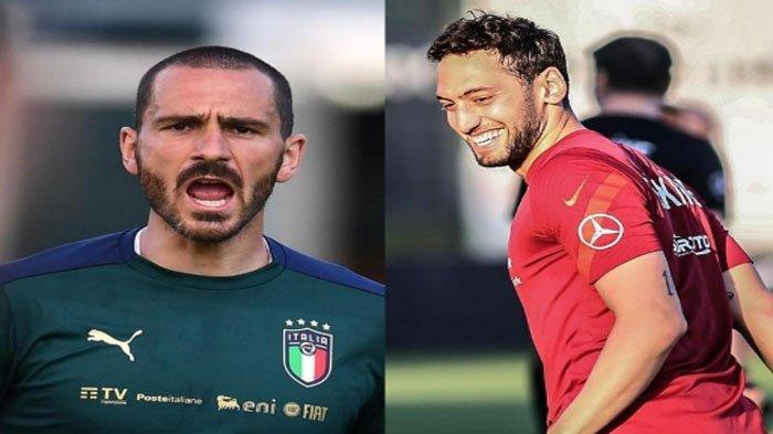 Beda Penampilan Hakan Calhanoglu dan Leonardo Bonucci, Jelang Turki vs Italia EURO 2020