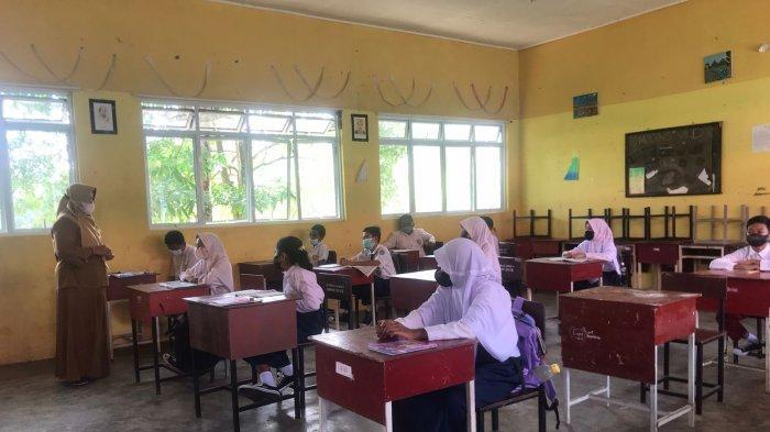 Belajar Tatap Muka SMPN 5 Bintan Hari Pertama, Wajib Surat Pernyataan Bermaterai