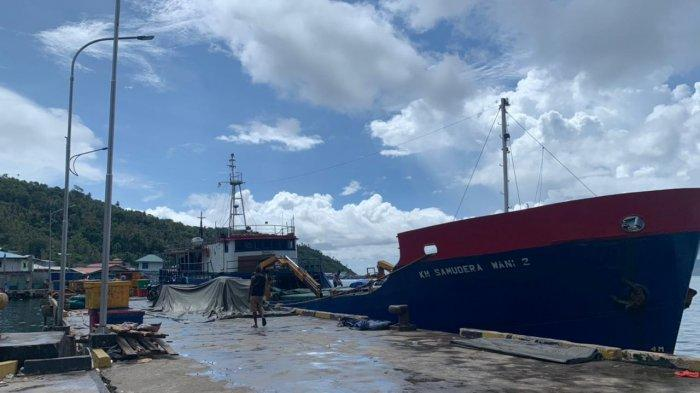 Kondisi Pelabuhan Tarempa, Kecamatan Siantan, Kabupaten Kepulauan Anambas, Provinsi Kepri, Kamis (6/5/2021).