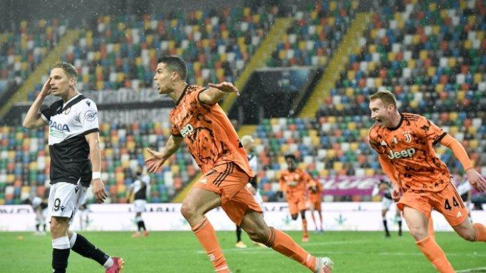 Hasil Liga Italia - Brace Cristiano Ronaldo Bawa Kemenangan Juventus atas Udinese