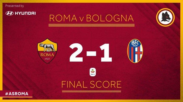 Hasil Akhir AS Roma vs Bologna - Aleksandar Kolarov Cetak Gol AS Roma Menang, Ancam Posisi AC Milan