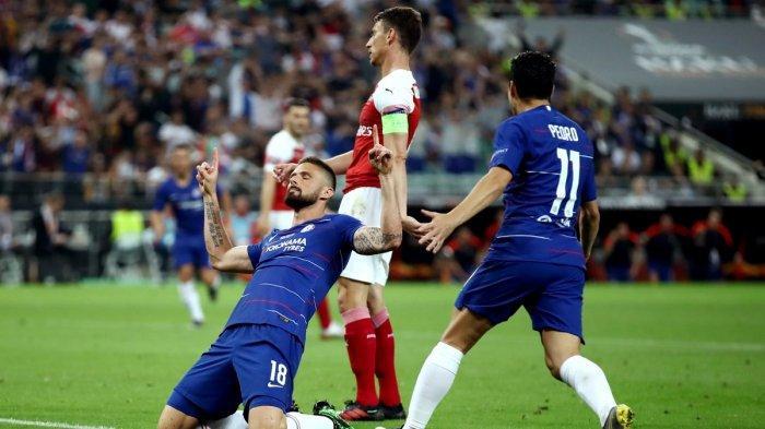 Hasil Akhir Chelsea vs Arsenal Final Liga Europa 2019, Dua Gol Hazard Bawa Kemenangan The Blues
