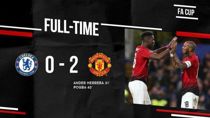 Hasil Akhir Chelsea vs Man United - Gol & Assist Paul Pogba Singkirkan Chelsea, MU ke Perempat Final