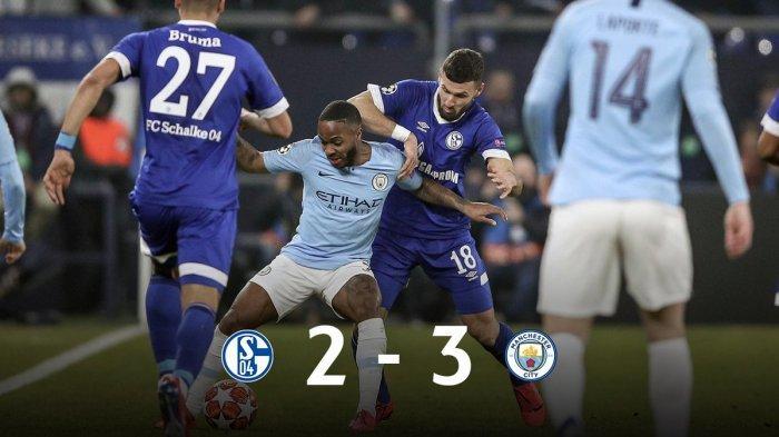 SEDANG BERLANGSUNG- Man City vs Schalke 04 Jam 03.00 WIB  Pep Guardiola Lakukan 3 Perubahan