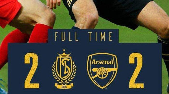 Hasil Liga Europa Arsenal vs Standard Liege, Laga Berakhir Seri, Arsenal Lolos ke Babak 32 Besar