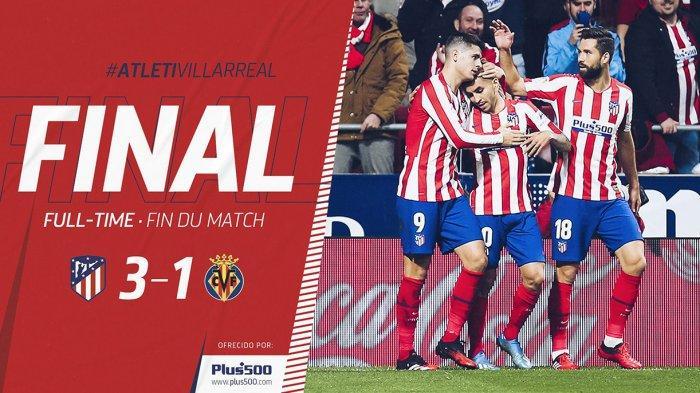 Hasil Liga Spanyol Atletico Madrid vs Villarreal, Joao Felix Kembali Main, Atletico Madrid Menang