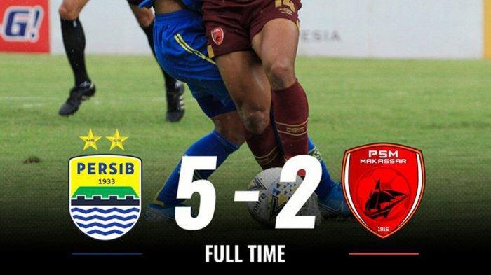 Hasil Persib Bandung vs PSM Makassar, Ezechiel Ndouassel 4 Gol, Persib Menang 5-2