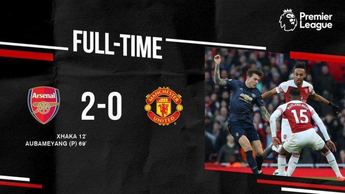 Hasil Liga Inggris Arsenal vs Man United - 15 Laga Tak Terkalahkan MU Berakhir, Arsenal Menang 2-0