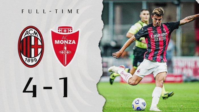 Hasil Laga Pra Musim AC Milan vs Monza, Brahim Diaz Debut, Maldini Cetak 1 Gol, Milang Menang