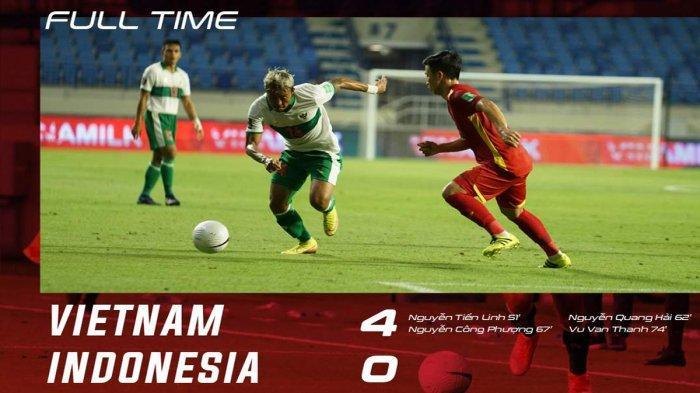 Hasil Timnas Indonesia vs Vietnam, Vietnam Cetak 4 Gol di Babak Kedua, Indonesia Kalah