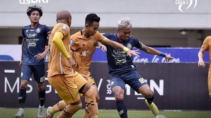 Hasil Liga 1 2021 - Arema FC Tahan Imbang Bhayangkara FC, Eks Persib Bandung Cetak Gol