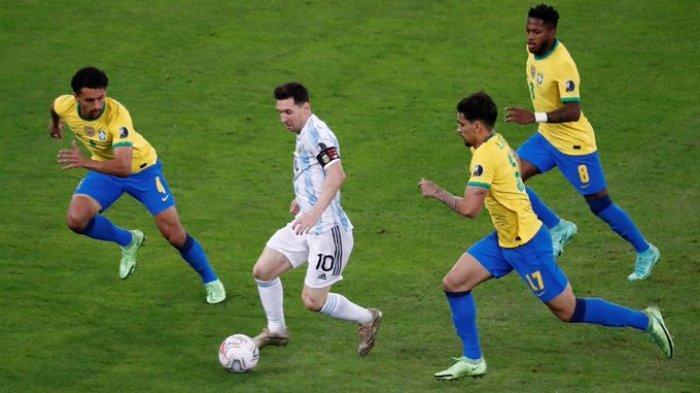 Hasil Final Copa America 2021 - Gol Di Maria Bawa Argentina Ungguli Brazil di Babak Pertama