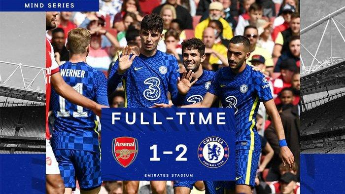 Hasil Arsenal vs Chelsea, Gol Granit Xhaka Dibalas Gol Kai Havertz & Tammy Abraham, Chelsea Menang