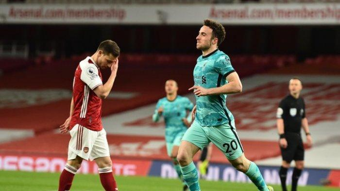 Hasil Liga Inggris - Diogo Jota Menggila di Emirates, Liverpool Cukur Arsenal 3-0, Mo Salah 1 Gol