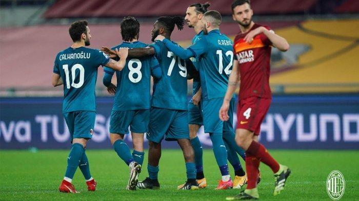Hasil Liga Italia AS Roma vs AC Milan - AC Milan menang tipis 2-1 atas AS Roma di pekan 24 Liga Italia 2020/2021, Minggu (28/2/2021) malam atau Senin dinihari WIB.