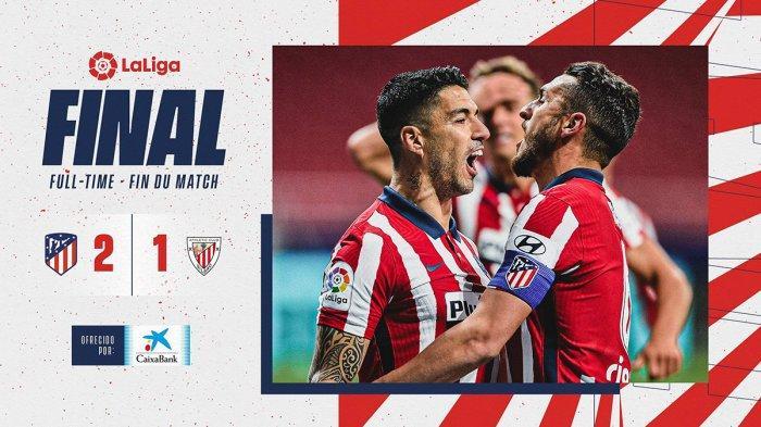 Hasil Atletico Madrid vs Athletic Bilbao - Atletico Madrid menang dengan skor 2-1 atas Athletic Bilbao di laga tunda pekan 18 LaLiga Spanyol 2020-2021, Rabu (10/3/2021) malam atau Kamis dinihari WIB