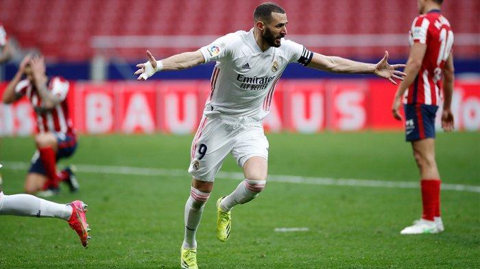 Hasil Liga Spanyol - Derby Madrid Berakhir Imbang, Gol Benzema Selamatkan Los Blancos dari Kekalahan