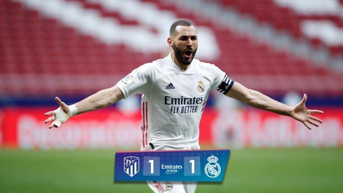Hasil Atletico vs Real Madrid - Real Madrid hanya sanggup bermain imbang 1-1 lawan Atletico Madrid di pekan 26 Liga Spanyol 2020-2021, Minggu (7/3/2021) malam WIB.