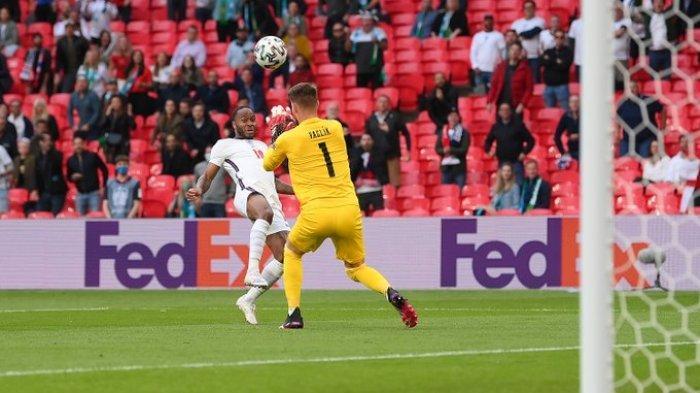 Hasil EURO 2020 - Gol Raheem Sterling Bawa Inggris Ungguli Ceko di Babak Pertama