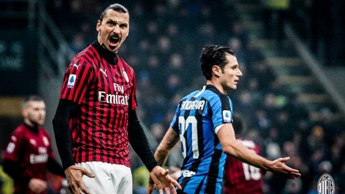 Hasil Babak Pertama Inter Milan vs AC Milan, Gol & Assist Zlatan Ibrahimovic Bawa I Rossoneri Unggul