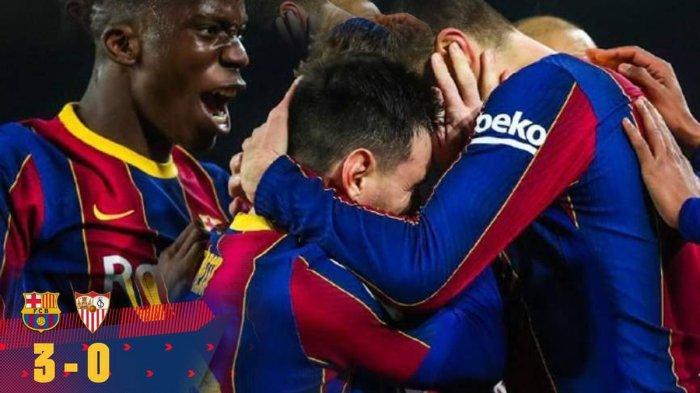 Hasil Barcelona vs Sevilla, Dramatis! Barcelona Lolos ke Final Copa del Rey Lewat Extra Time