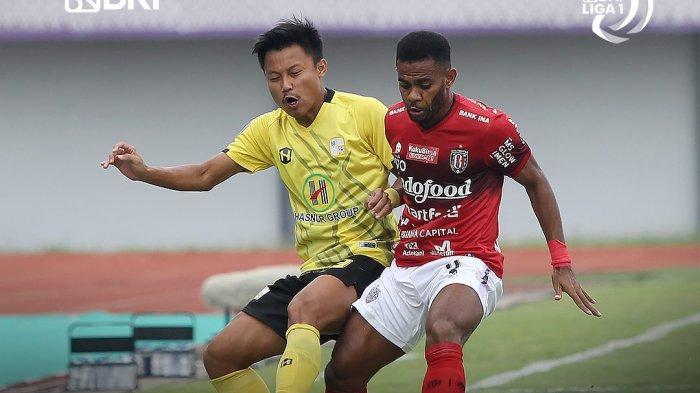 Hasil Liga 1 2021 - Comeback, Gol Spasojevic Bawa Kemenangan Bali United atas Barito Putera