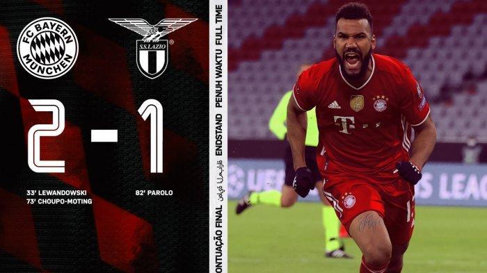 Hasil Liga Champions Bayern Munchen vs Lazio, Lewandowski & Choupo-Moting Cetak Gol, Bayern Menang