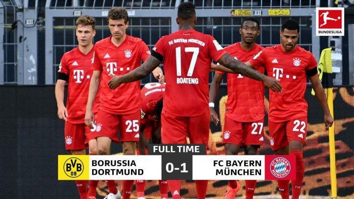 Hasil Liga Jerman Borussia Dortmund vs Bayern Muenchen, Gol Tunggal Kimmich Bungkam Dortmund