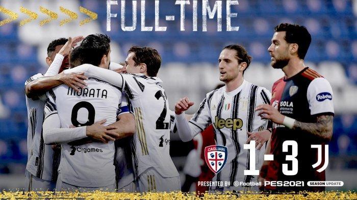Hasil Liga Italia Cagliari vs Juventus, Cristiano Ronaldo Hattrick, Juventus Menang