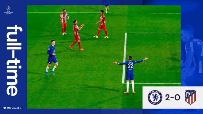 Hasil Liga Champions Chelsea vs Atletico Madrid, Hakim Zieych & Emerson Cetak Gol, Chelsea Menang