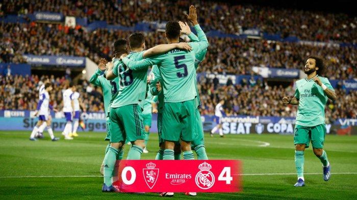 Hasil Copa Del Rey Real Zaragoza vs Real Madrid, Tak Terbendung, Real Madrid Pesta 4 Gol