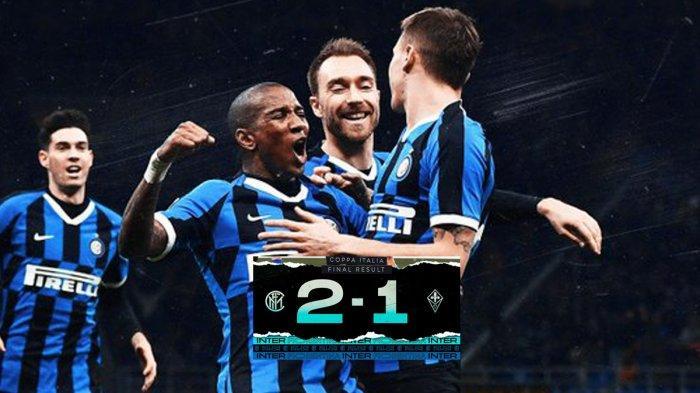 Hasil Coppa Italia Inter Milan vs Fiorentina, Christian Eriksen Debut, Inter Milan Menang 2-1