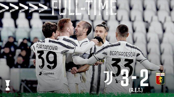 Hasil Coppa Italia Juventus vs Genoa, Cristiano Ronaldo Cadangan, Juventus Menang Saat Extra Time
