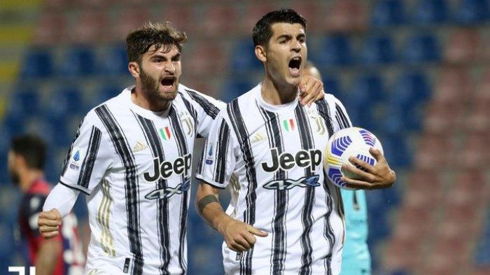 Hasil Liga Italia - Duet Morata & Federico Chiesa, Juventus Tahan Imbang Crotone di Babak Pertama