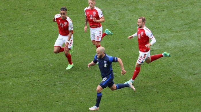 Hasil EURO 2020 - Diwarnai Christian Eriksen Tumbang, Denmark Kalah Lawan Finlandia
